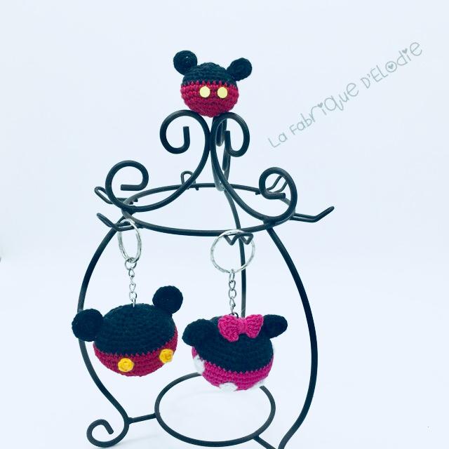 porte clé minnie et mickey (4)